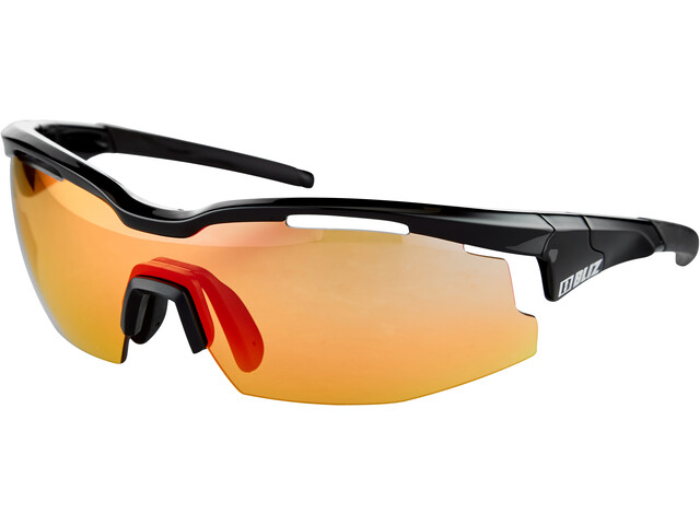Bliz Sprint M21 Lunettes Ultra Lens Science, shiny black/photochromic brown with red multi